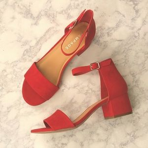 Rampage Mattie Block Heel Sandals